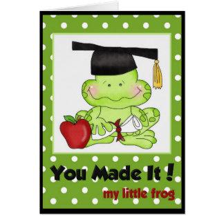 Graduation Frog School Teacher Greeting Card