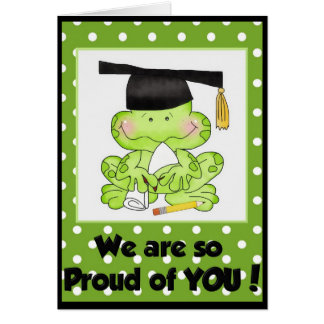 Graduation Frog We are Proud of You Greeting Card
