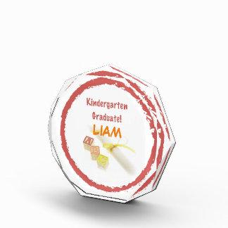 Graduation from Kindergarten, Custom Round Gift Acrylic Award