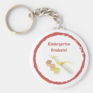 Graduation from Kindergarten, Custom Round Gift Keychain