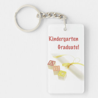 Graduation from Kindergarten, Custom Vertical Gift Keychain