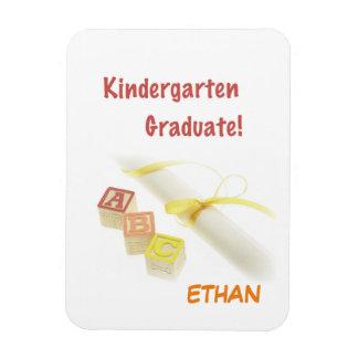 Graduation from Kindergarten, Custom Vertical Gift Magnet