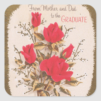 Graduation from Mom and Dad Square Sticker