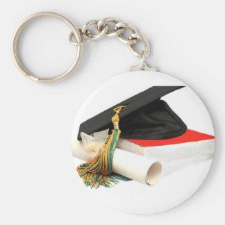 graduation gift basic round button keychain