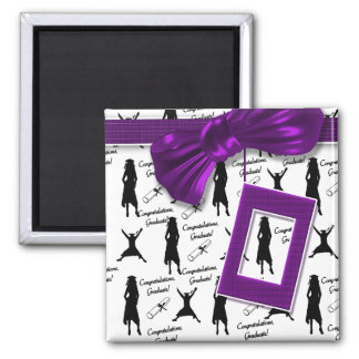 Graduation gifts for women - elegant & stylish 2 inch square magnet
