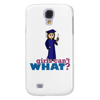 Graduation Girl in Blue Gown Samsung Galaxy S4 Cases