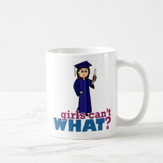 Graduation Girl in Blue Gown Coffee Mug