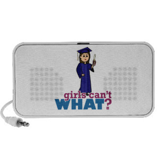 Graduation Girl in Blue Gown iPhone Speakers
