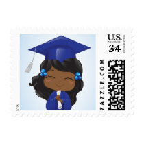 Graduation Girl in Blue Postage
