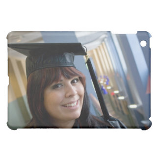 Graduation Girl in Cap and Gown Cover For The iPad Mini