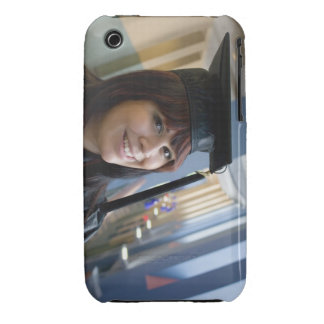 Graduation Girl in Cap and Gown iPhone 3 Case