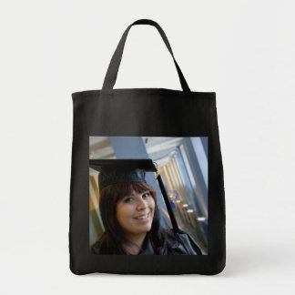 Graduation Girl in Cap and Gown Tote Bag