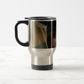 Graduation Girl in Cap and Gown Travel Mug