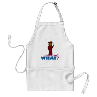 Graduation Girl in Red Adult Apron