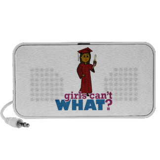 Graduation Girl in Red Travelling Speakers