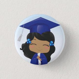Graduation Girl Pinback Button