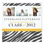 Graduation Glamour Girl Zebra Print with Gold Card
