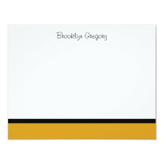 Graduation Gold Thank You Note Card