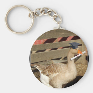 Graduation goose Keychain