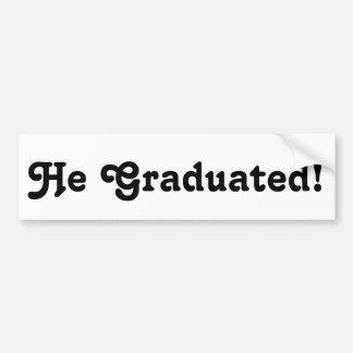 Graduation Grad Grads Congratulations Sticker Gift Car Bumper Sticker
