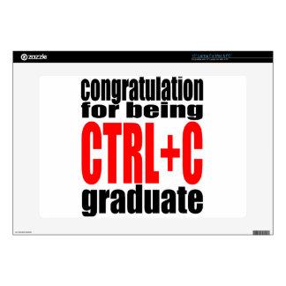 "graduation graduate cope school teenager homework skins for 15"" laptops"