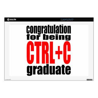 "graduation graduate cope school teenager homework skins for 17"" laptops"