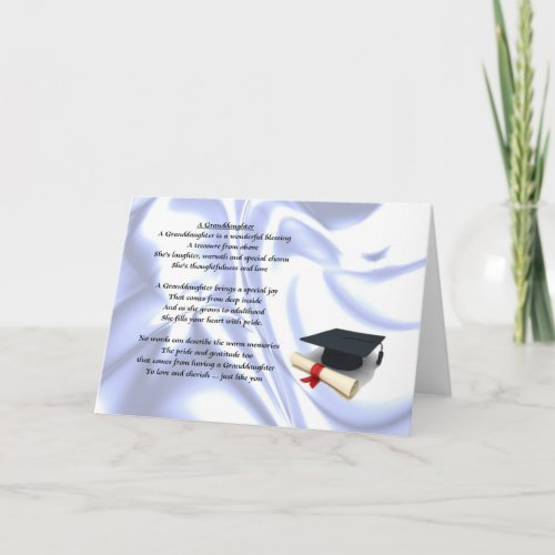 Graduation Granddaughter Card