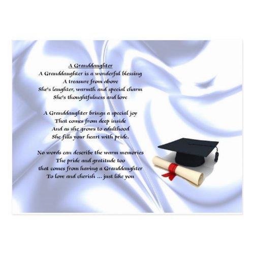 Graduation Granddaughter Postcard
