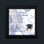 "Graduation   Grandson Poem Jewelry Box<br><div class=""desc"">A great gift for a grandson who has just graduated.</div>"