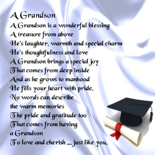 graduation grandson poem metal ornament
