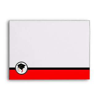 Graduation Greeting Card A7 Envelope Red