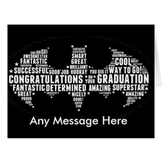 Graduation Greetings Card Well Done Any Message