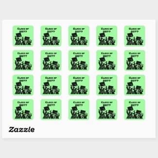 Graduation Group Class of 20XX Square Sticker