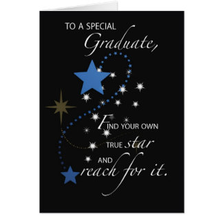 Graduation Guy, Young Man Star Congratulations Greeting Card