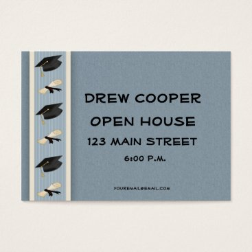Professional Business Graduation Hand-out Blue Business Card