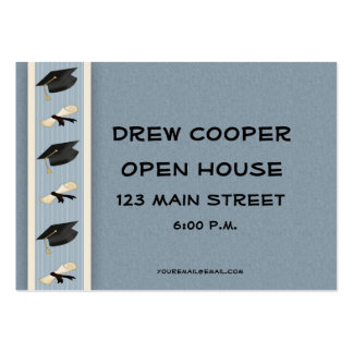 Graduation Hand-out Blue Large Business Cards (Pack Of 100)
