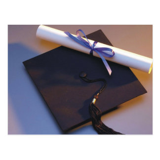 Graduation Hat And Diploma Postcard