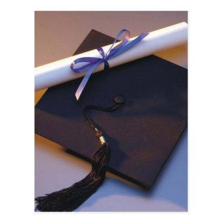 Graduation Hat And Diploma Postcard