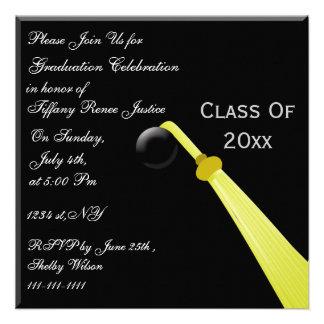 graduation hat back Graduation party Invitation