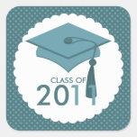 Graduation Hat Class of Stickers