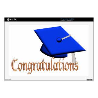 "Graduation Hat Congratulations fun Graduate gift Decals For 17"" Laptops"