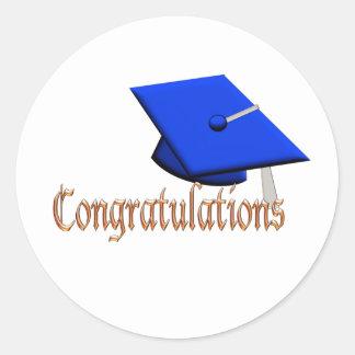 Graduation Hat Congratulations fun sticker