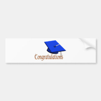 Graduation Hat Congratulations fun sticker Car Bumper Sticker