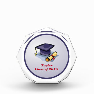 Graduation, Hat, Diploma, Congratulate, Celebrate, Acrylic Award