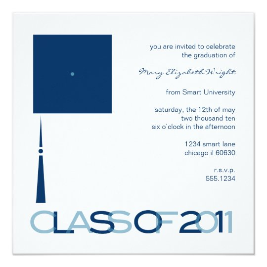 Graduation Hat Square Invitation or Announcement