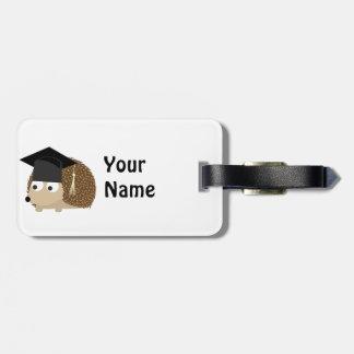Graduation hedgehog luggage tag