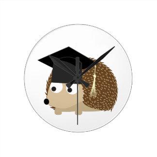 Graduation hedgehog round clock