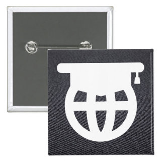 Graduation Honors Minimal 2 Inch Square Button