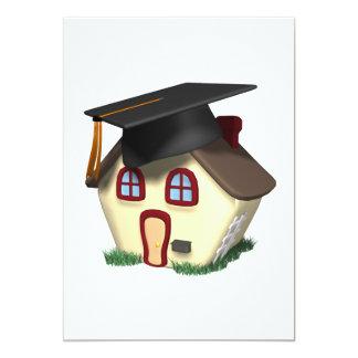 Graduation House 5x7 Paper Invitation Card