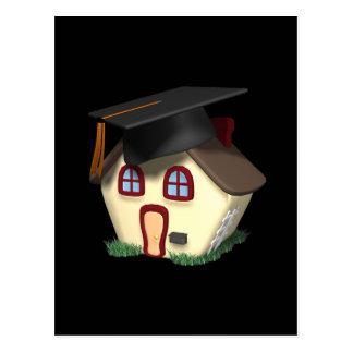 Graduation House Postcard